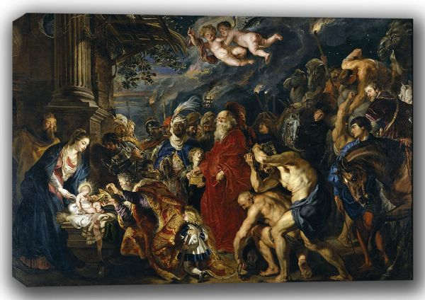 Rubens, Peter Paul: The Adoration of the Magi. Fine Art Canvas. Sizes: A4/A3/A2/A1 (002122)